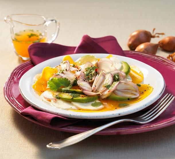 Mango-Schalotten-Carpaccio Rezept