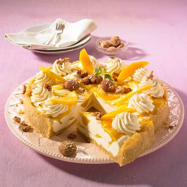 Mango-Torte mit Amarettini Rezept