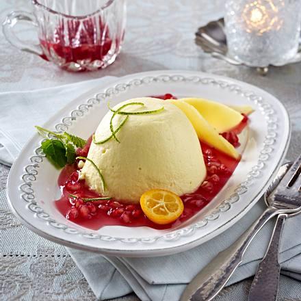 Mangocreme mit Granatapfel Rezept