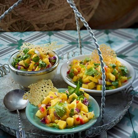 Mangosalsa mit Brotwaffeln Rezept