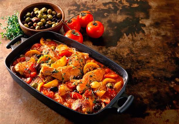 Marinierte Hähnchenteile in Tomatensoße Rezept