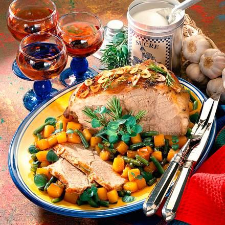Marinierte Lammkeule mit karamellisiertem Gemüse Rezept