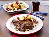 Marinierte Rindersteaks mit Kartoffel-Schafskäse-Salat Rezept