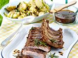 Marinierte Spareribs vom Grill zu Speck-Kartoffel-Salat Rezept
