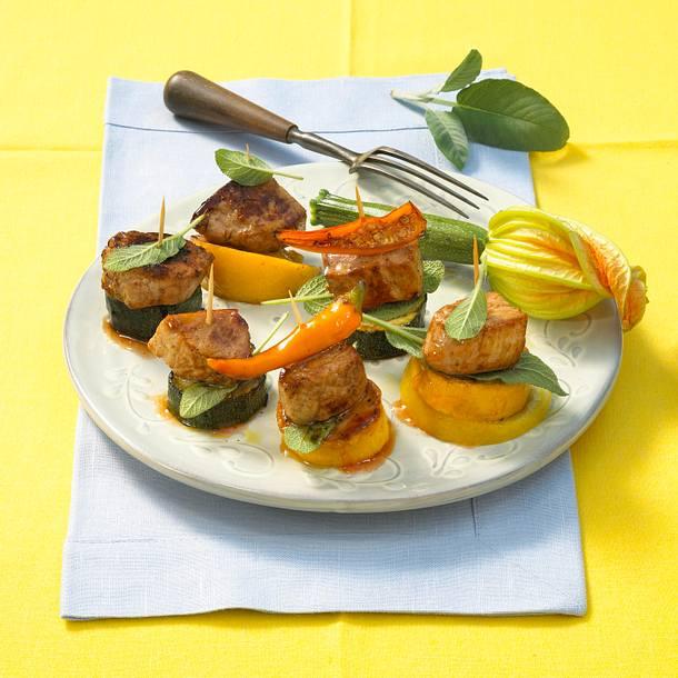 Marinierte Spieße mit Zucchini Rezept
