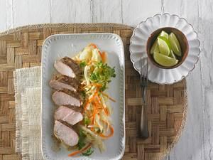 Mariniertes Schweinefilet (Jerk) mit Fenchel-Kohlsalat Rezept