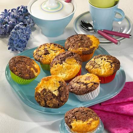 Marmor-Muffins mit Apfel Rezept