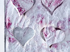 Marmorierte Marshmallow-Herzen Rezept