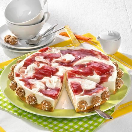 Marmorierte Rhabarber-Mascarpone-Torte Rezept