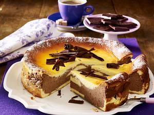 Marmorierter Käsekuchen mit Minzschokolade Rezept