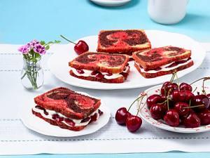 Marmoriertes Kirsch-Sandwich Rezept