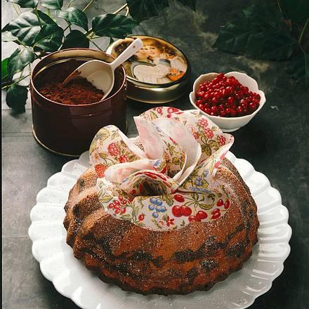 Marmorkuchen mit Preiselbeeren Rezept