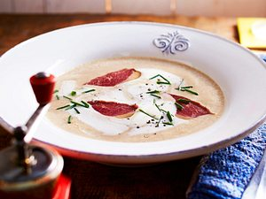 Maronen-Sahnesuppe Rezept