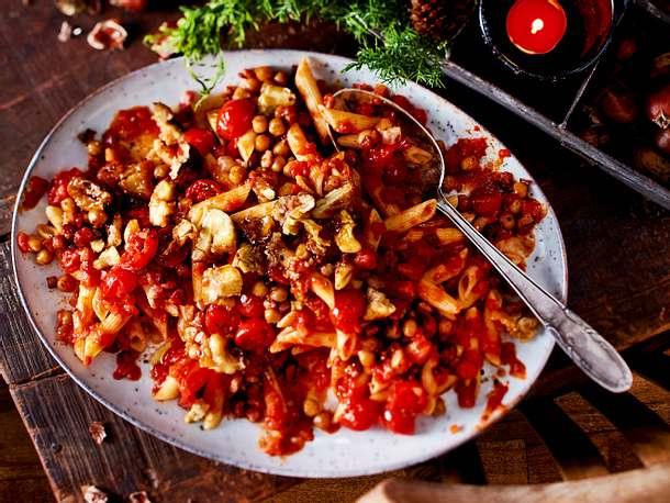 """Maronen-Tomaten-Pasta """"Warm ums Herz"""" Rezept"""