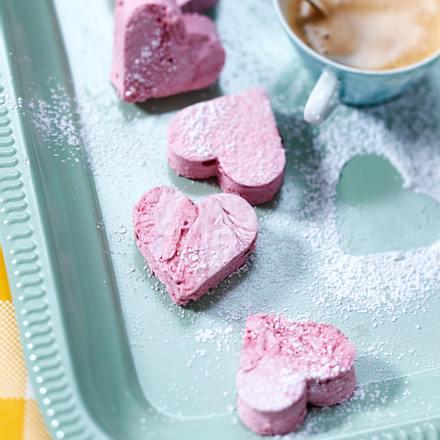 Marshmallow-Herzen Rezept