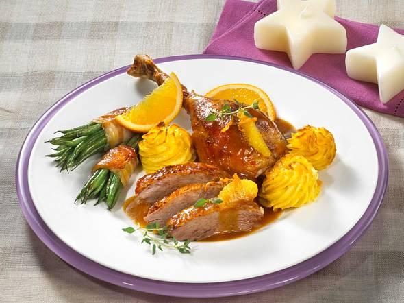 Martinsgans mit Orangensoße und Herzogin-Kartoffeln Rezept