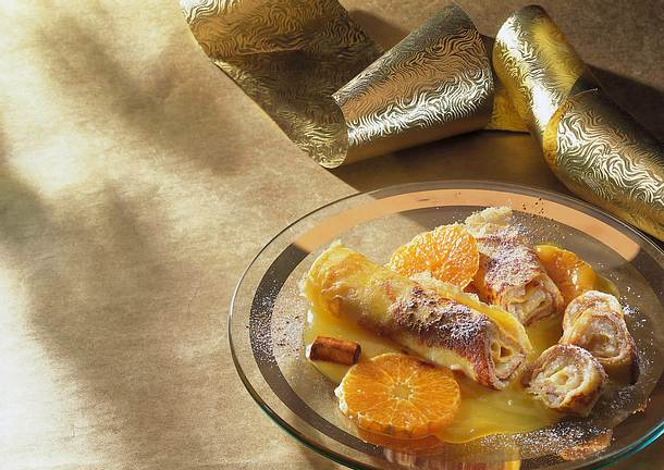 Marzipan-Crêpes mit Zimt und Mandarinen Rezept
