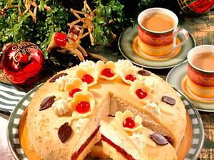 Marzipan-Kirsch-Torte Rezept