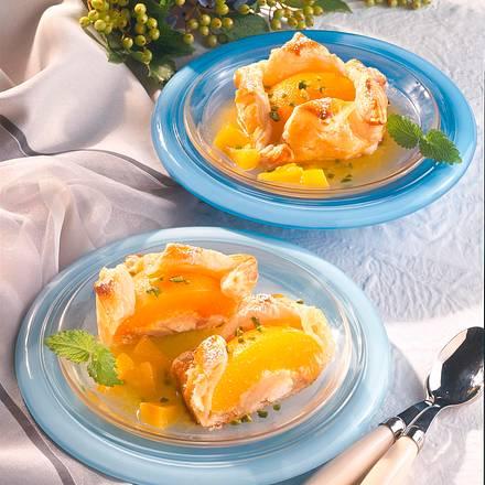 Marzipan-Pfirsich in Blätterteig Rezept
