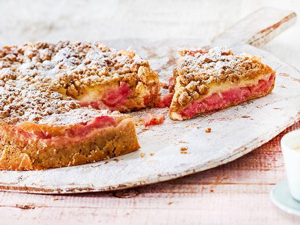 Marzipan Rhabarber Kuchen Rezept Lecker