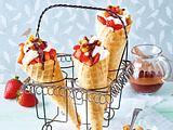 Mascarpone-Erdbeer-Hörnchen Rezept