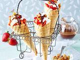Mascarpone-Erdbeer-Tütchen Rezept