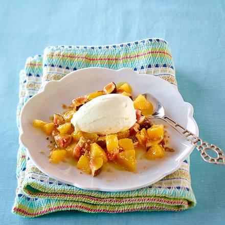 Mascarpone-Limetten-Eis mit Orangen-Feigen-Kompott Rezept
