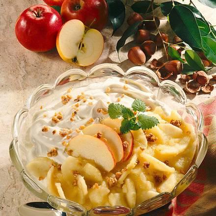 Mascarponecreme mit Apfelkompott für 6-8 Personen Rezept