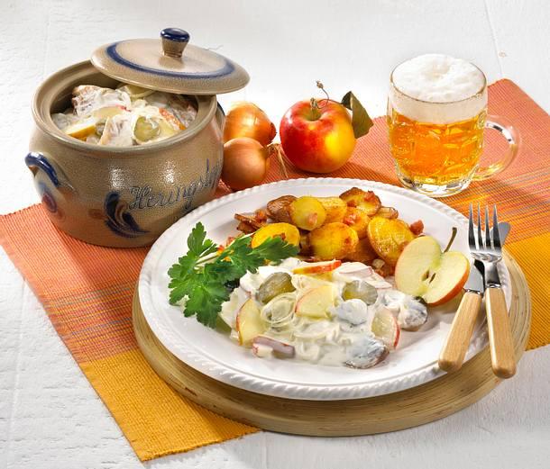 Matjes nach Hausfrauenart mit Bratkartoffeln Rezept