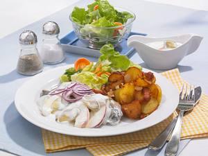 Matjesfilet mit Apfel-Remoulade und Bratkartoffeln Rezept