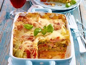 Maultaschen-Lasagne mit Wirsingkohl und Kochschinken Rezept