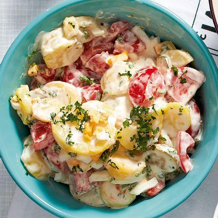 Mayo-Kartoffelsalat mit Ei Rezept