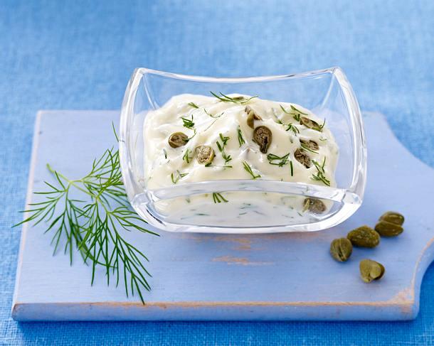 Mayonnaise mit Dill, Kapern und Limettenschale Rezept
