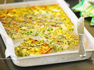 Meal-Prep-Frittata mit Erbsen und Feta Rezept