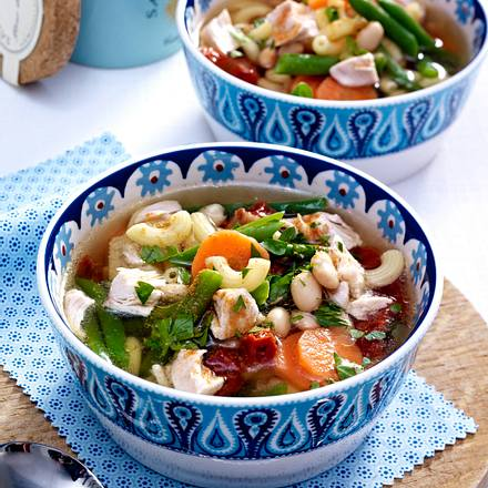 Mediterrane Hähnchensuppe Rezept