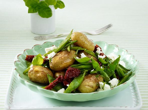 Mediterrane Kartoffelpfanne (Trennkost Kohlenhyratgericht) Rezept