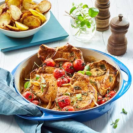 Mediterrane Koteletts mit Bratkartoffeln Rezept