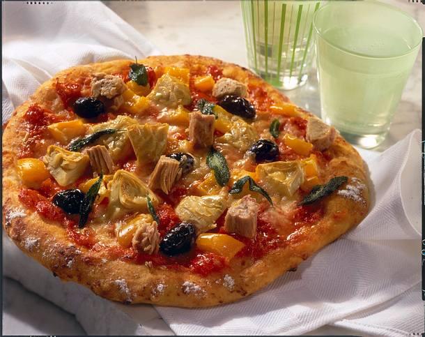 Mediterrane Pizza Rezept