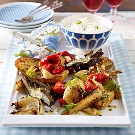 Mediterranes Gemüse vom Blech Rezept