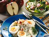 Meerrettichsoße und Eier mit Apfel-Kartoffelpüree Rezept