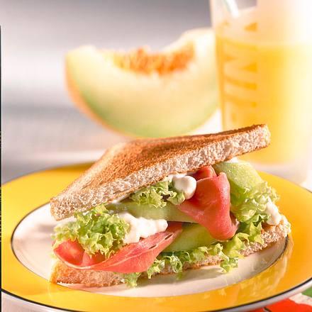 Melon-Ham-Sandwich (Diabetiker) Rezept