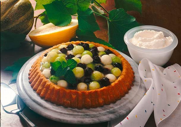 Melonen-Brombeer-Torte Rezept