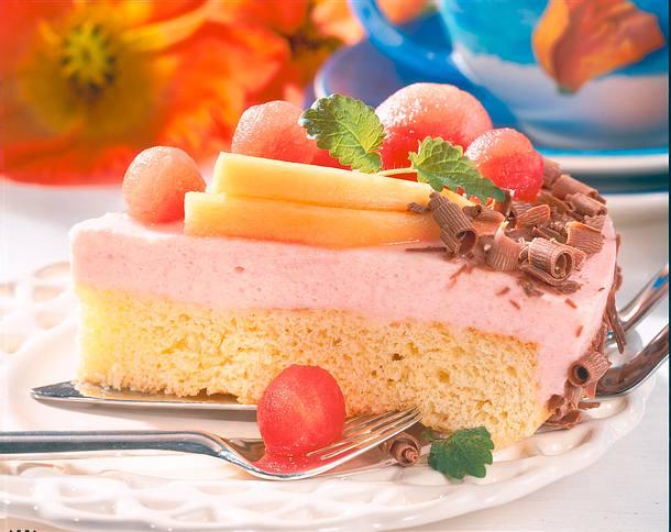 Melonen-Buttermilch-Torte Rezept
