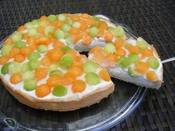 Melonen-Joghurt-Tarte Rezept