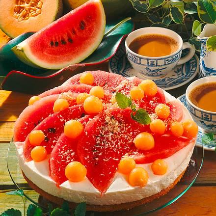 Melonen-Kokos-Torte Rezept