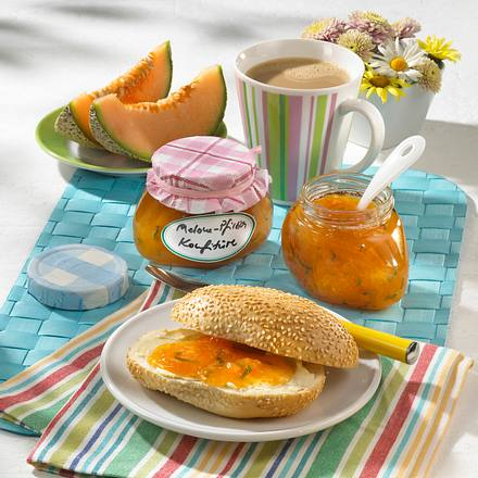 Melonen-Pfirsich-Konfitüre Rezept