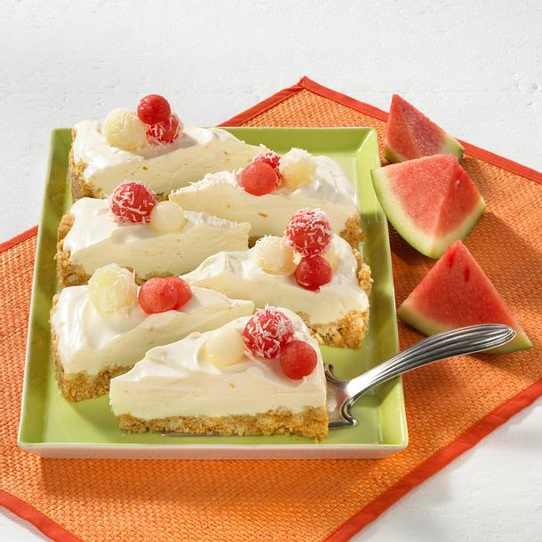 Melonen-Quark-Torte Rezept