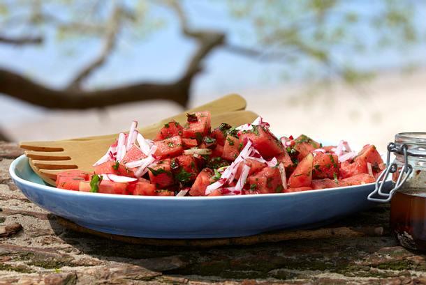 Melonen-Radieschen-Salat Rezept