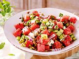 Fix am Start: Melonensalat mit Feta & Pistazien Rezept