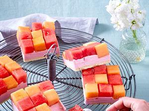 Melonen-Schachbrett-Kuchen Rezept